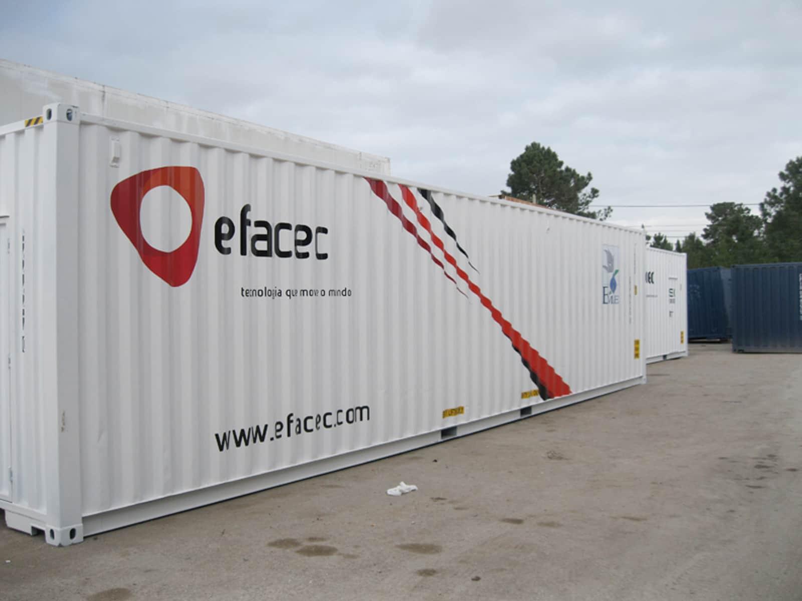 Contento para maquinaria Efacec, Angola